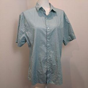 Bixby Nomad Wave Pattern Camp Button Up Shirt